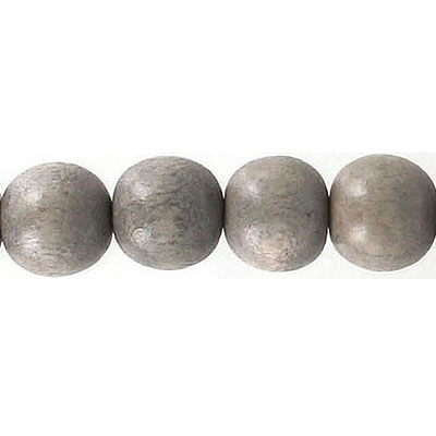 Wood bead, 10mm, round, taupe, 16 inch strands, 40 beads per strand