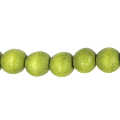 Wood bead, 12mm, round, olive, 33 beads per strand, 16 inch strands