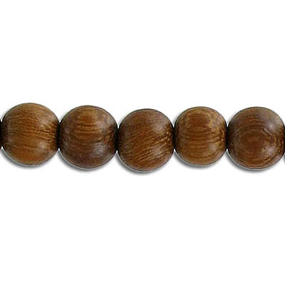 Wood bead, 8mm, round, madre de cacao wood, 16 inch strand