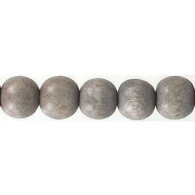 Wood bead, 8mm, round, taupe, 16 inch strands, 50 beads per strand