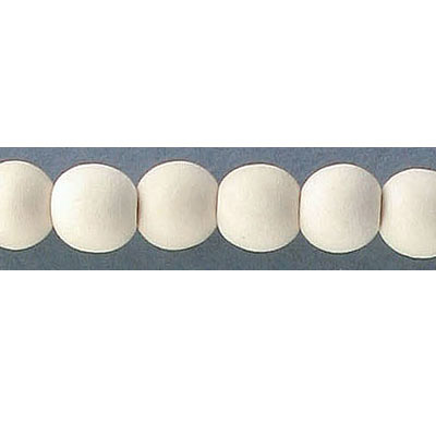 Wood bead, 8mm, round, off-white, 50 beads per strand, 16 inch strands