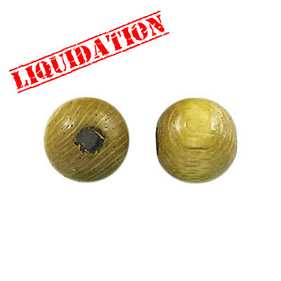 Wood bead, 10mm, light khaki