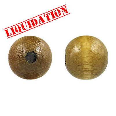 Wood bead, 12mm, laquered, khaki