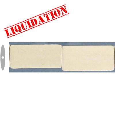 Wood bead, 40x20mm, rectangular, ivory wood bead