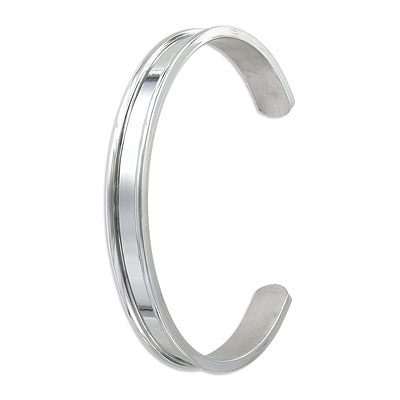 Bracelet base for tt5mmf cord, 66x8mm, stainless steel