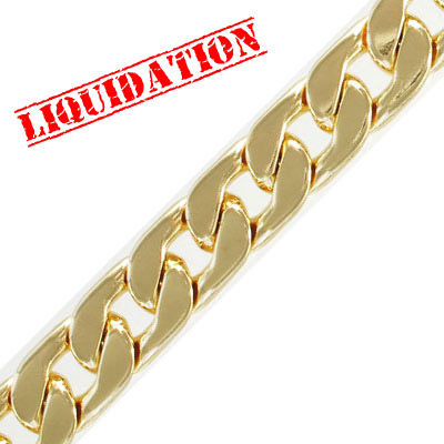 Chain, 15x21mm, 4mm thick, gold plate, 2 meters