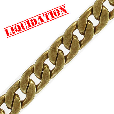 Chain, 15x21mm, 4mm thick, antique brass, nickel free, 2 meters