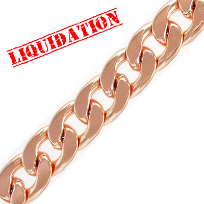 Chain, steel core, rose gold, laquered, 2 meters