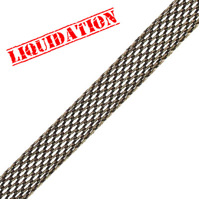 Chain, 9.95x1.65mm, mesh chain, steeel core, antique brass, 5 meters