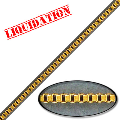 Box chain, steel core, 2mm, gold color, nickel free, 10 meters