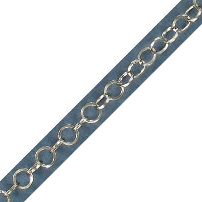 Link chain, 5mm link, 0.60mm thick, stainless steel, grade 304l, 10 meters