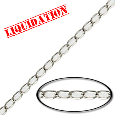Chain curb link (2.3 mm wide) 20 metres nickel plate