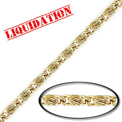 Chain gold plate, 5 meters