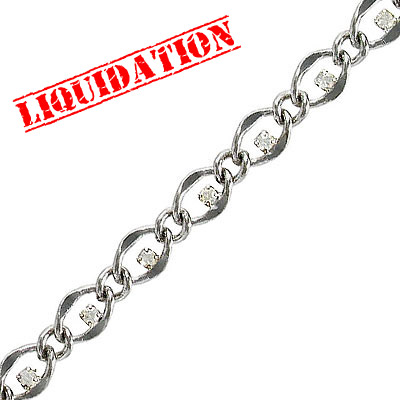Swarovski stones chain, rhodium imitation, crystal, 3 meters