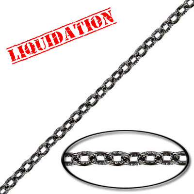 Chain cable pattern link (3.5 mm wide) 20 metres black nickel plate