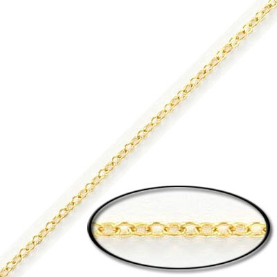 Fine flat cable chain, 2.3mm, gold filled, gold plate
