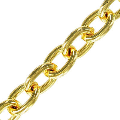 Chain cable link (16.5x12mm) 10 metres gold plate