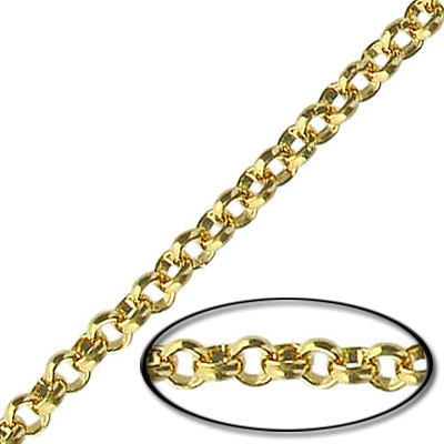 Chain rolo link (3.5mm) 20 metres gold plate
