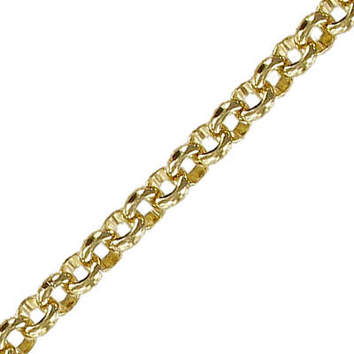 Chain rolo link (6mm) 10 metres gold plate