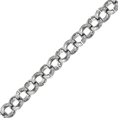Rolo chain, stainless steel, 2mm wire, 5.77mm link, 5 meters. Grade 304L