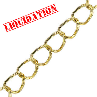 Chain gold plated, 10 meters