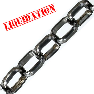 Chain, steel, black nickel finish, 3 meters