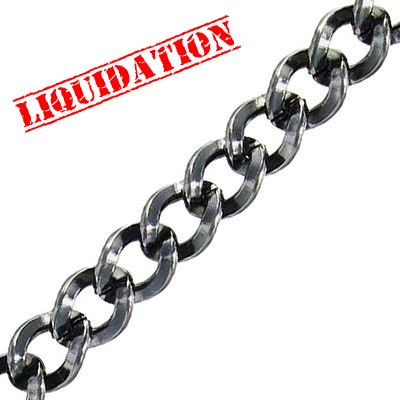 Chain, steel, black nickel finish, 5 meters