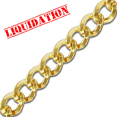 Chain, gold plate, 5 meters