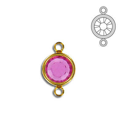 Channel ss39 2-loop fuschia gold