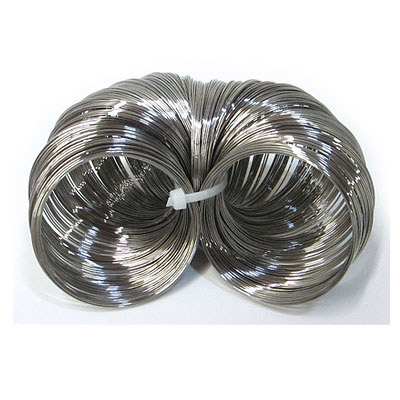 Memory wire bracelet, 8oz, .62mm wire thickness, 4.4-5.7cm coil diameter, approx 75 coils per oz, stainless steel