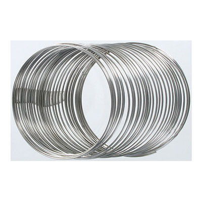 Memory wire, large bracelet, round, 0.036 inch (0.91mm), heavy duty gauge, 1oz, approx 33 loops per oz, stainless steel