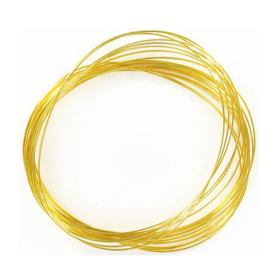Memory wire, 0.35oz, large oval, gold plate