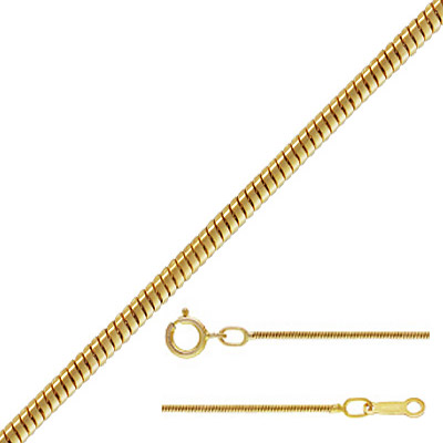Neckchain, 1mm snake chain, gold filled, gold plate, 18 inch