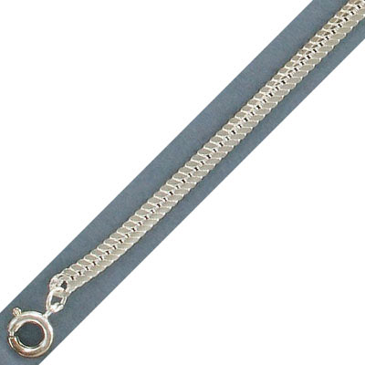 Neck chain 16 imitation rhodium plated