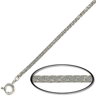 Neck chain 15 inch imitation rhodium plated