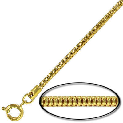Neck chain, snake chain necklace, 24 gold plated