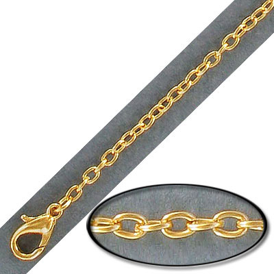 Neck chain 18 inch gold plate