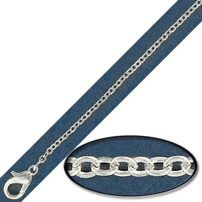 Neck chain 22 inch silver plate