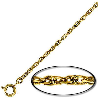 Neck chain 24 inch antique gold plated