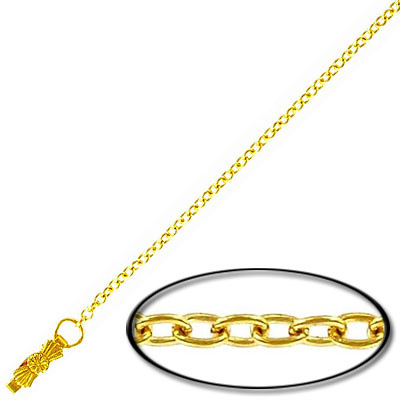 Neck chain 13 inch gold plated