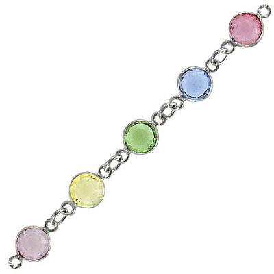 Channel ss29 light multi color rhodium, Swarovski