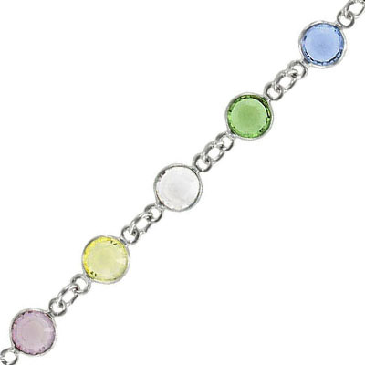 Channel ss29 soft multi color silver plate
