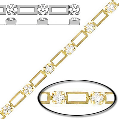 String chain pp24 crystal gold