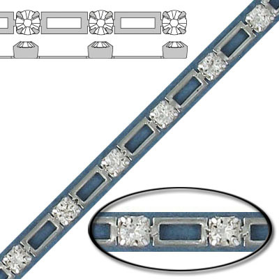 String chain pp24 crystal sil plate