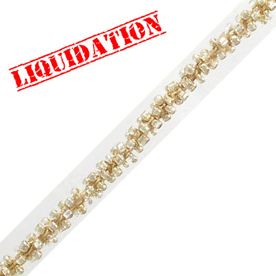 Cord with rocaille beads, champagne, 5 meters