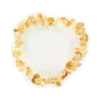Elastic bracelet, citrine chips, approx. 7 inches