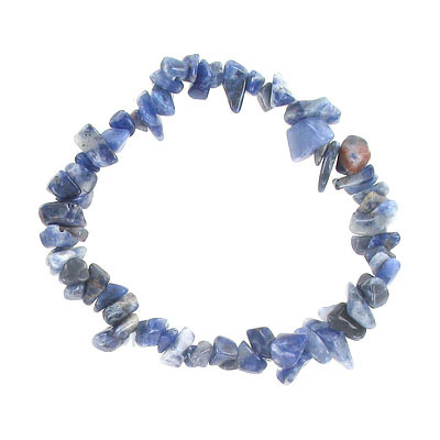 Elastic bracelet, sodalite chips, approx. 7 inches