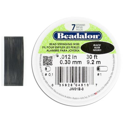 Wire 0.012 inch thickness (7 strands), black color, 30 feet