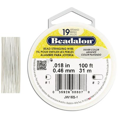 Wire 0.18 inch thickness (19 strands), silver color, 100 feet