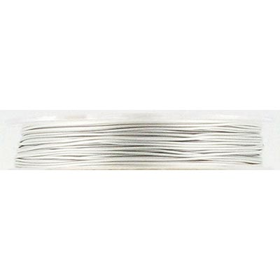 Tigertail, 1x7 wire silver (pearl) 30'